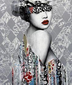 El Delicado Street Art de © Hush