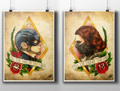Captain America: The Winter Soldier Tattoo Parlour by NebulaPrints