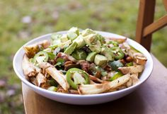 The BEST healthy vegan Chili Cheese Fries - Fo Reals Life - Oh my!