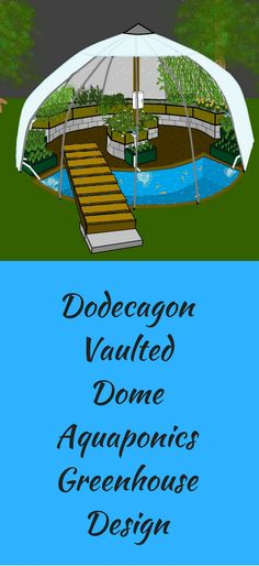 Basically an indoor aquaponics system within a dome greenhouse. Aquaponics System, Aquaponics Greenhouse, Aquaponics Diy, Greenhouse Plans, Hydroponic Gardening, Organic Gardening, Gardening Tips, Dome Greenhouse, Cheap Greenhouse