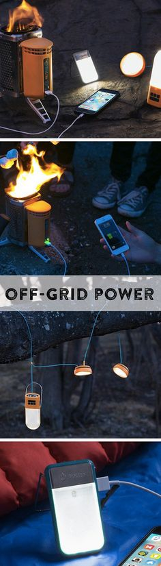 Off-the-grid lighting and charging that goes anywhere. The technology works wonders here and helps empower those is developing areas, too. Camping Survival, Survival Prepping, Survival Gear, Survival Skills, Camping Gear, Camping Hacks, Camping Stuff, Camping Glamping, Outdoor Camping