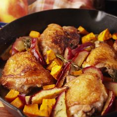 The perfect chicken recipe for fall. #food #familydinner #easyrecipe #glutenfree #gf #cleaneating #comfortfood #healthyeating #triedit #forkyeah