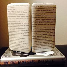 """The Fault in Our Stars Book Page Wallet - """"It's a metaphor"""" by TheNerdBoutique on Etsy, $30.00  Uses actual pages of John Green's book. Yay tfios!!"""
