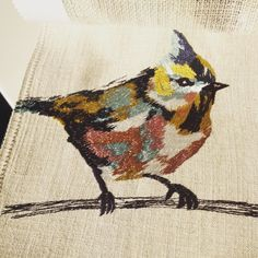 #embroidery #detail how lovely is this little guy? #curtains #bespoke