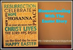Homeschooling with the Easter Story:  Children of the Church