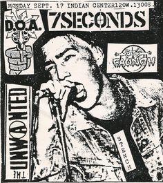 Flyers - Old Punk Flyers : sowhatifiliveinjapan: D., 7 Seconds + The Unwanted @ Old Punk Flyers : sowhatifiliveinjapan: D., 7 Seconds + The Unwanted @ 17 Indian Center, Salt Lake City, UT Dead On Arrival, 7 Seconds, Concert Posters, Doa, Flyer Template, Punk Rock, Flyer Design, Album Covers, Diy Design