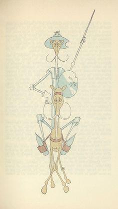 Illustrations by Albert Dubout for L'Ingenieux Hidalgo Don Quichotte de la Manche (1938)