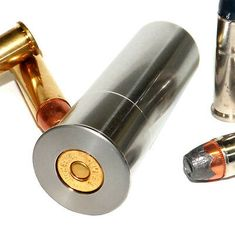 This adapter gives your 12 Gauge single or double shot break open shotgun the ability to fire 357 Magnum and 38 Special ammunition. This adapter is precision machined from high quality stainless steel to the OD specifications of a 2 shell. 410 Shotgun, Guns And Ammo, Weapons Guns, Reloading Ammo, 357 Magnum, Gun Art, Double Shot, Double Barrel, Hunting Guns