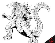 Godzilla Vs Destroyah, Fantasy Monster, Grim Reaper, Marvel Art, Cthulhu, Character Art, Fantasy Art, Deviantart, Drawings