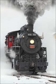 Steam in the Snow #2 by Mark Stevens