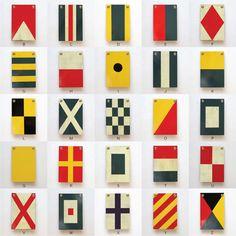 Fancy - Wooden Nautical Flags