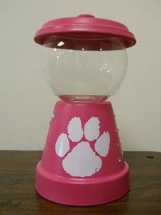Handmade Bubble Gum Machine Candy Jars by Wishingwellcrafts, $22.50