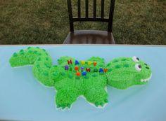 crocodile birthday cake C's 3rd birthday she wants.