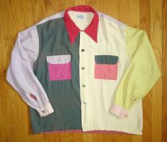 Rare-Mens-Vintage-40s-50s-MacLaren-End-of-Day-Confetti-Rayon-Shirt-Collectible