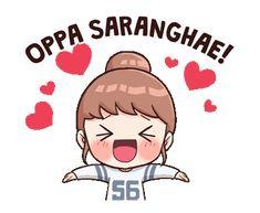 Anime Korea, Korean Anime, Love Cartoon Couple, Cute Love Cartoons, Girl Cartoon, Korean Expressions, Chibi, Korean Stickers, Pop Stickers