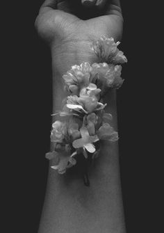 """""""From the bruises flowers grow"""" - Keep on Walking, Gabrielle Aplin Dark Photography, Black And White Photography, Strange Flowers, Oeuvre D'art, Bloom, Inspiration, Beauty, Beautiful, Aesthetics"""