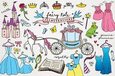 Fairy Tale & Princess Clipart by Lemonade Pixel on Creative Market