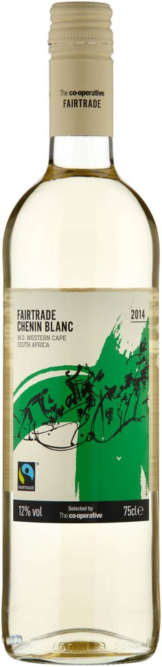 The Co-operative Fairtrade South African Chenin-Blanc - A nose and palate of tropical fruits with zesty, refreshing acidity and a long, dry finish. As a Fairtrade product, this wine ensures the workers on the grape farms receive a better deal including a Fairtrade premium to invest in the community. http://www.co-operativefood.co.uk