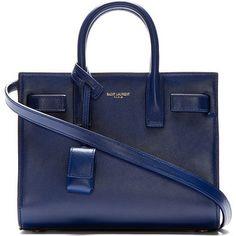 Saint Laurent Blue Leather Sac Du Jour Nano Tote Bag