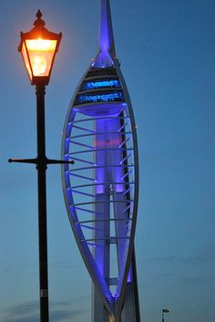SPINNAKER TOWER Portsmouth Harbour, On A Clear Day, Glass Floor, Cosmos, Entrance, Tower, Identity, Design, Entryway