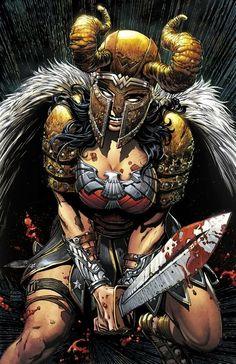 Wonder Woman in battle gear