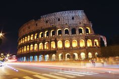 Rome at Night, Italy. one of my favorite things I saw in Europe. AMAZING!