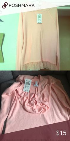 Nwt! Delias xs baby pink lace bottomed hood shirt New with tags! Smoke-free home. 🚭 same day shipping! 📦 see all my other listings & positive feedback! 🎀 Have a great day! ❤️ Delias Tops Sweatshirts & Hoodies