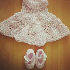 Pink crochet set...