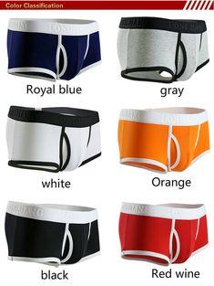 Men/'s Boxer Briefs Faux Leather Lingerie Trunks Shiny Shorts Underwear Thong TIK
