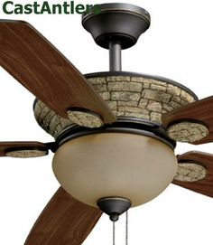 rustic ceiling fan | Rustic Ceiling Fans & Lighting from CastAntlers