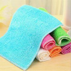 1PC Six Colors High Efficient Microfiber Anti Grease Dish Cloth Bamboo Fiber Washing Towel Magic Kitchen Cleaning Wiping Rag