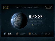 Star Wars website - Design Inspiration Roundup – From up North Mobile Web Design, App Ui Design, Interface Design, Website Design Layout, Web Layout, Layout Design, Landing Page Inspiration, Website Design Inspiration, Web Design Examples