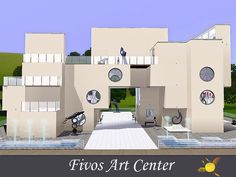 evi's Sims 3 Downloads Museum Of Modern Art, Art Museum, Think On, Sims 3, Contemporary Art, Mansions, House Styles, Home, Modern Art Museum