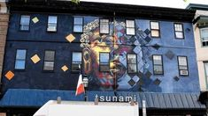 Tsunami Mural Reaction by Jeff Huntington in Annapolis, Maryland