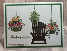 Sitting with hanging plants. Stampin' Up!