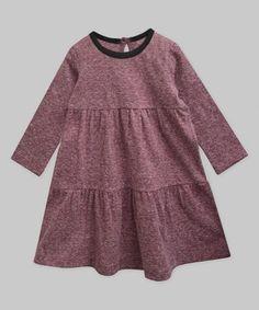 Berry & Black Melange Chloe Dress - Infant, Toddler & Girls #zulily #zulilyfinds