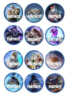 Premium Fortnite Printable Ediable Cupcake Toppers Game Battle Royale Gamer kids Party Birthday Favors Party Food Level up Season 5 10th Birthday Parties, Birthday Favors, Birthday Party Decorations, Birthday Invitations, Blue Birthday, Rainbow Birthday, Birthday Cake, Party Printables, Party Time