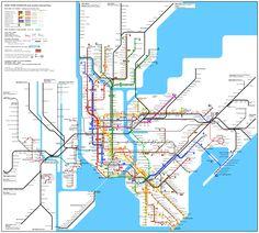 Mapa Metro Nova Iorque Nyc Subway Map, New York Subway, New York Chinatown, New York Tours, Staten Island, Map Of New York, New York Travel, New York City, Manhattan