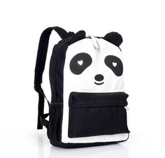 YESSTYLE: 19th Street- Contrast-Color Printed Backpack (Black - One Size)