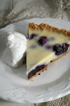 Pastor's Wife's Blueberry Custard Pie:  Prep time: 30 minutes + 2 hours cooling time Cook time: 25 minutes Makes: 8 servings