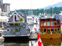 Most Beautiful Cities, Beautiful Homes, City Of Glass, Floating Homes, O Canada, Canal Boat, Vancouver Island, Wishful Thinking, Tiny Living