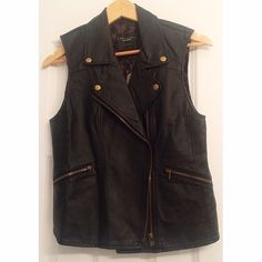 Anthropologie Vest- Vegan Leather size Medium NWT New with tags Anthropologie vegan leather vest size Medium. Super fun over a summer top and just a little edgy. Fair offers considered thank you for looking! ✨ Anthropologie Jackets & Coats Vests