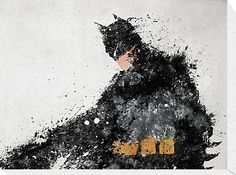 "Awesome 26.8"" x 20.0"" Batman art on canvas"