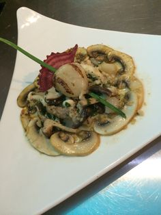 Scallopes beurre blanc garlic  And assorted wild mushroom  A Michelle Hirrel inspired dish