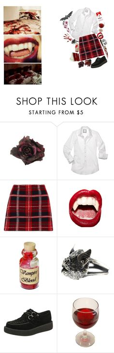 """""""this tainted love you've given."""" by jinxofthedead ❤ liked on Polyvore featuring Johnny Loves Rosie, Miu Miu, Manic Panic NYC and T.U.K."""