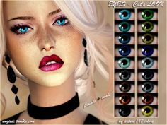 The Sims Resource: EYES -Cat's LOOK by ANGISSI • Sims 4 Downloads