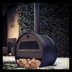 Hetating stove - oil drum More