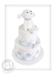 Baby Lamb 100 day celebration cake