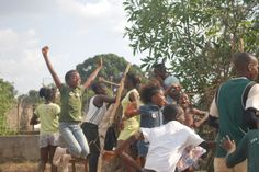 The green team celebrates its victory in the Child Rescue Centre Sports Day.  http://helpingchildrenworldwide.org/children/