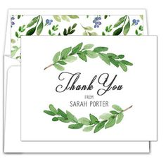 Two Sprigs Thank You Note Cards